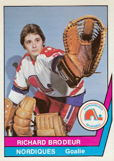 richard brodeur quebec nordiques 1977-78 wha o-pee-chee hockey card