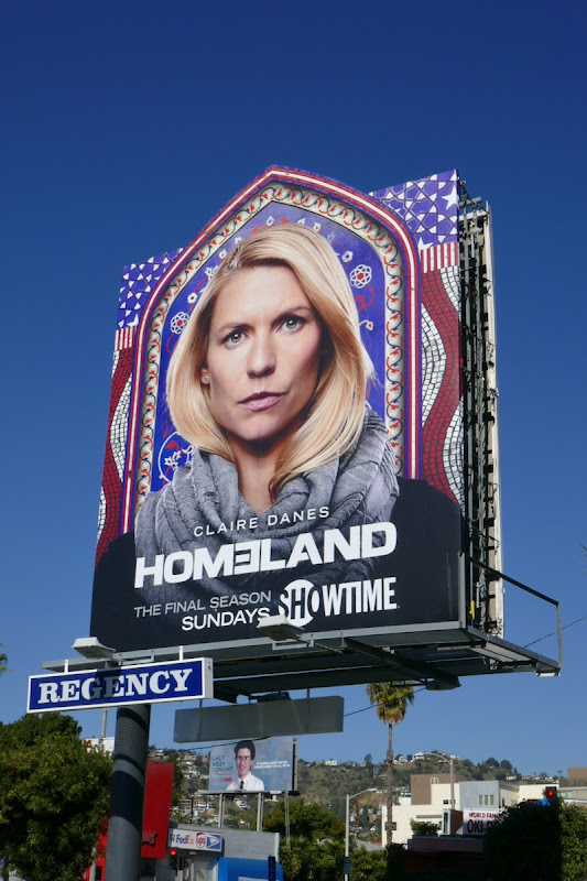 Homeland final season extension billboard