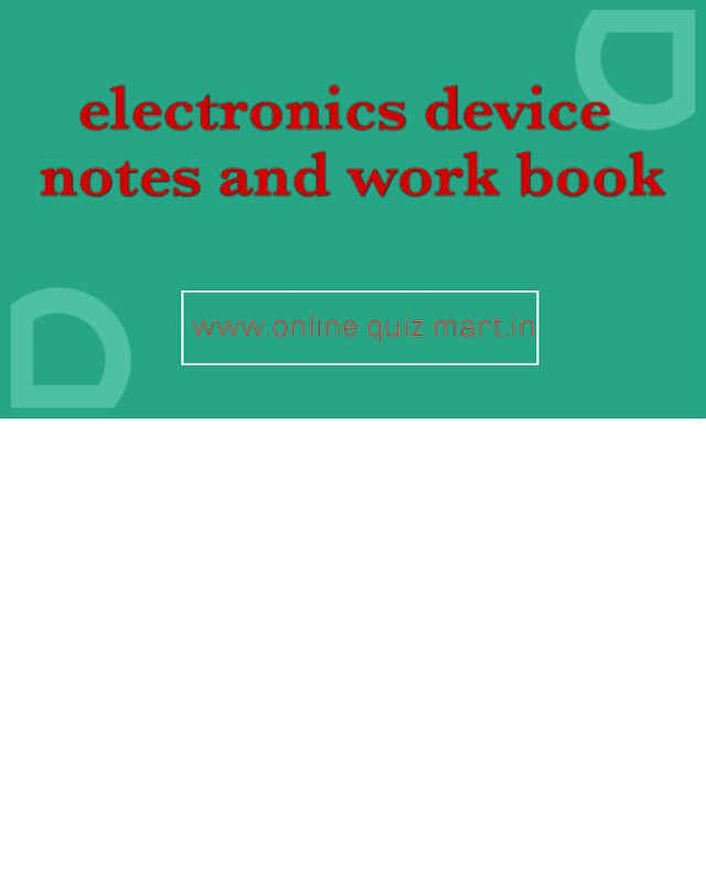 Electronics device work book for GATE