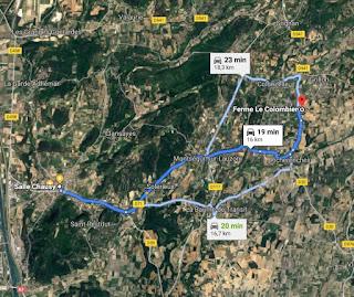 https://www.google.com/maps/dir/Salle+Chausy,+1+Le+Courreau,+26130+Saint-Paul-Trois-Ch%C3%A2teaux/Ferme+Le+Colombier,+Chemin+des+Paluds,+84600+Grillon/@44.3663043,4.8090398,14137m/data=!3m1!1e3!4m14!4m13!1m5!1m1!1s0x12b57458122cd099:0xd293a2ebfc29ad18!2m2!1d4.7702776!2d44.3479957!1m5!1m1!1s0x12b57a3c6a48433b:0xca67c6af4133e82!2m2!1d4.9183451!2d44.3818955!3e0
