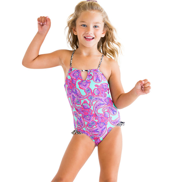 Stella Cove | One-Piece Paisley Swimsuit | Chichi Mary Kid's Boutique