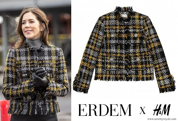 Crown Princess Mary wore Erdem x H&M Jacket Collection