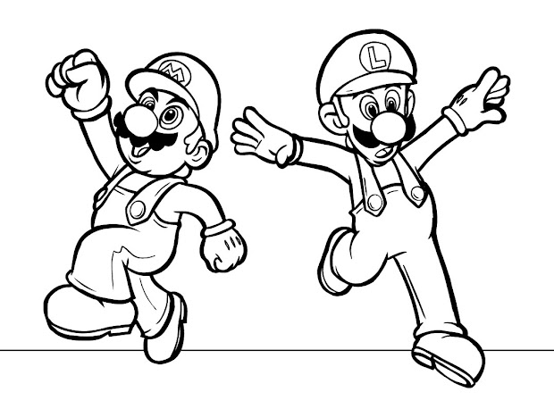 super mario coloring pages free