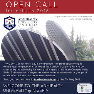Admiralty University of Nigeria Open Call for Artist Competition - 2018