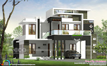 3 Bhk Contemporary House Plan Architecture Kerala Home