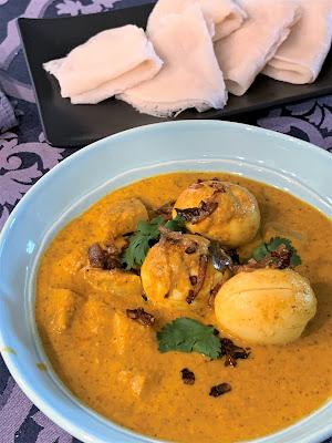 Mangalorean Egg Curry, Neer Dosa, Ande Ambat