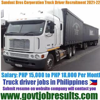 Sundust Bros Truck Driver Recruitment 2021-22