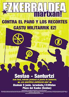 Cartel de la Marcha por Ezkerraldea