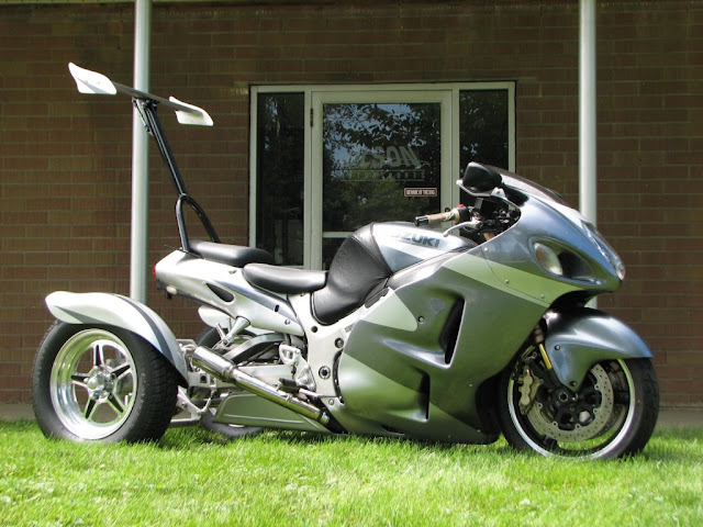 Custom Trike with Wings Motorcycle Accessories Indiana USA