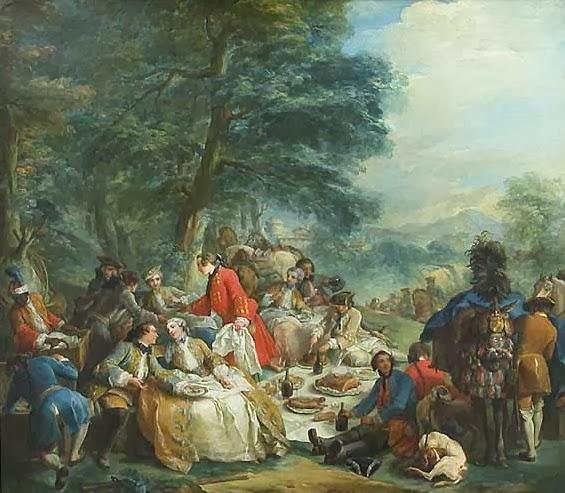 Halte de chasse by Charles-André van Loo, 1737