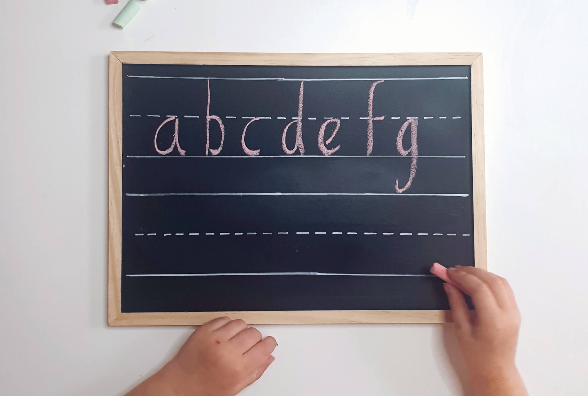 DIY learn to write chalk board