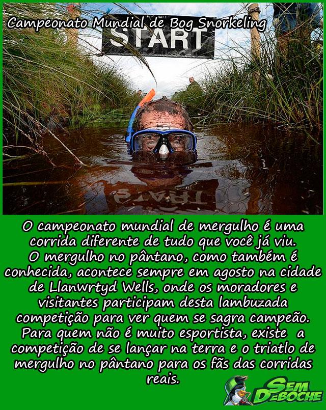 CAMPEONATO MUNDIAL DE BOG SNORKELING