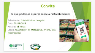 Palestra sobre rastreabilidade de vegetais na Abavar em Registro-SP