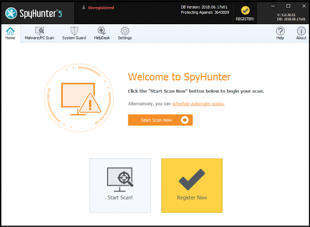 Spyhunter Start new scan