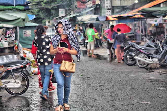 Pluies dans Phnom Penh