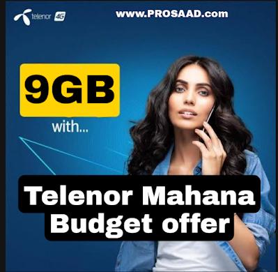 Telenor Mahana Budget Offer 2021