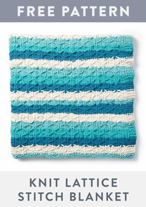 Knit Quilted Blanket - Free Pattern