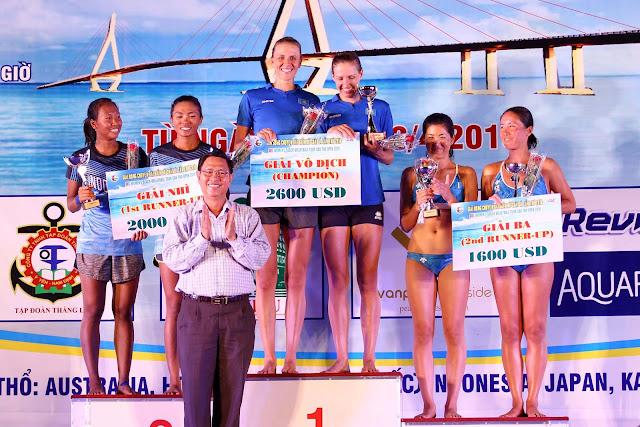 Giải Bóng chuyền bãi biển nữ Châu Á- Cần Thơ 2018: Kazakhstan đăng quang