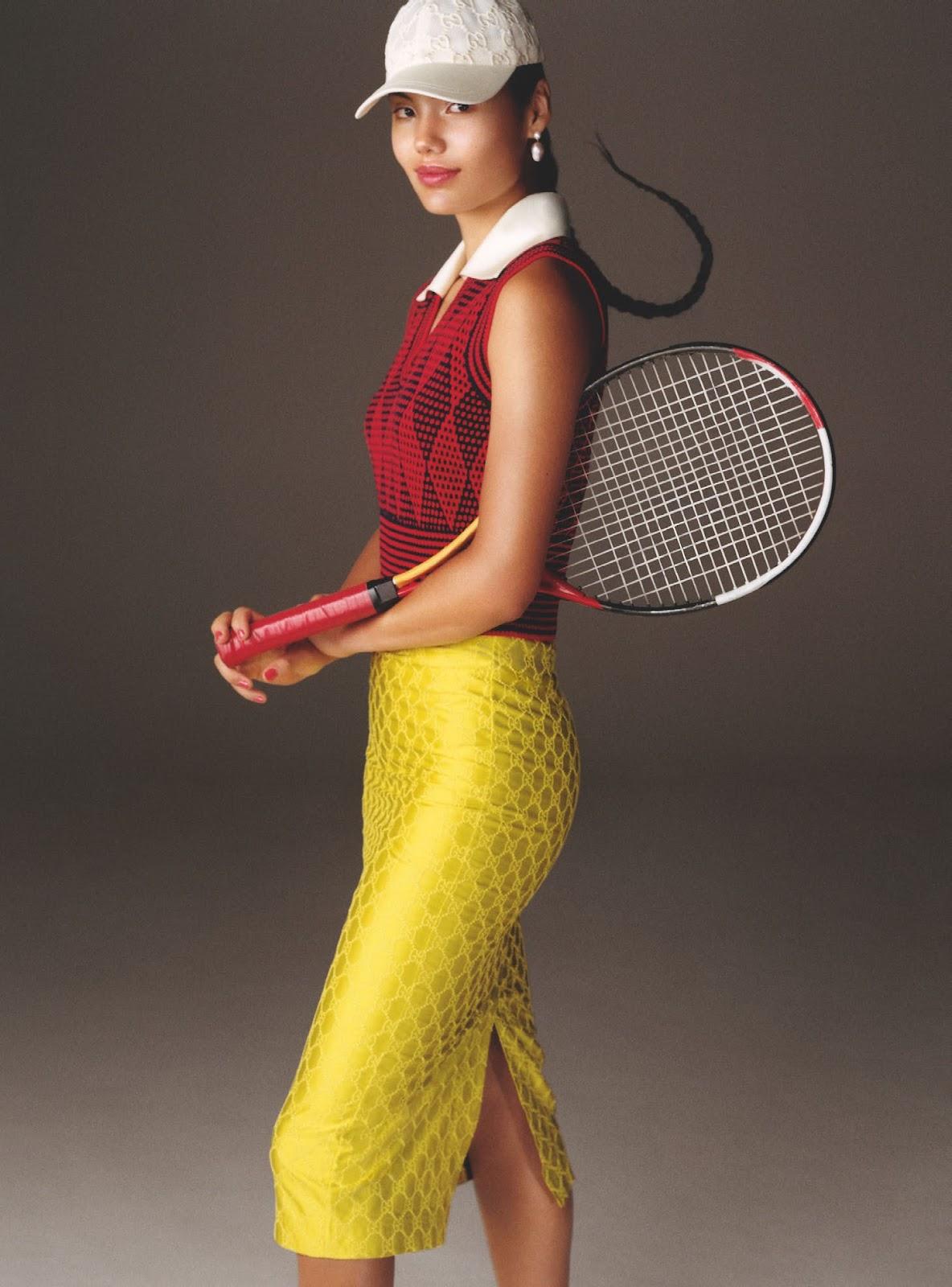 SMILE: Emma Raducanu in British Vogue October 2021 by Scott Trindle