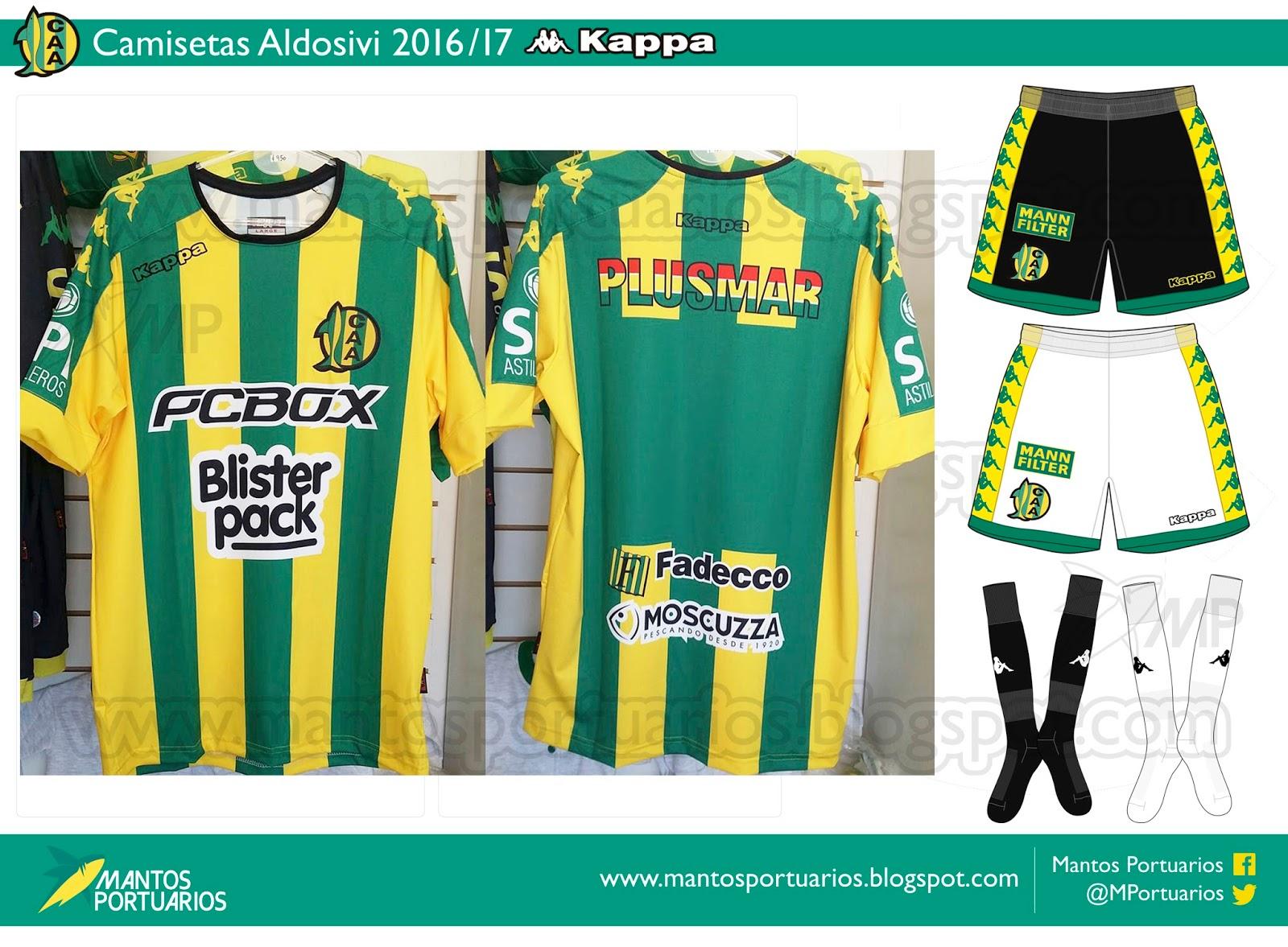 Groseramente en caso Latón  Mantos Portuarios: [Análisis y opinión] Camisetas Kappa Aldosivi 2016/17