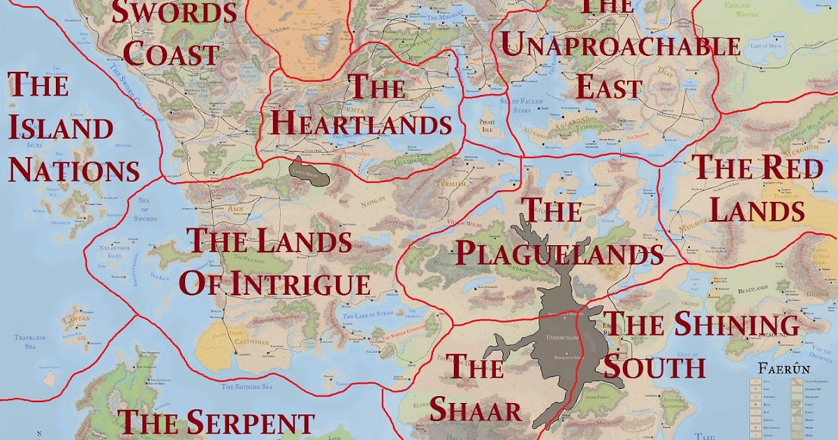 Forgotten No More: The Regions & Countries Of Faerun