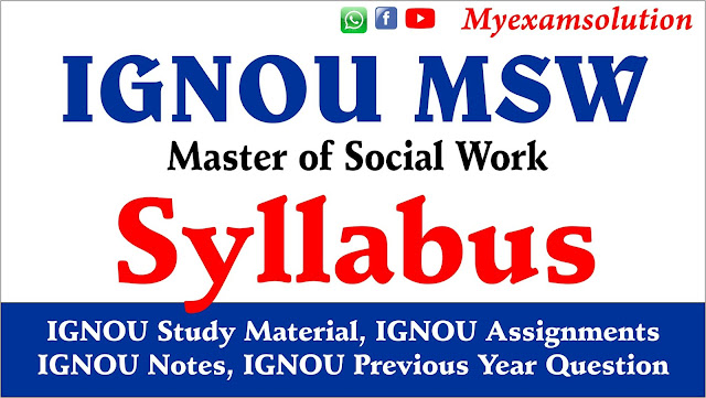 msw syllabus, master of social work, msw assignments