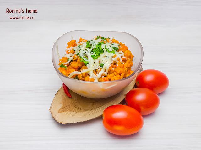 Ризотто с томатами и крилем: пошаговый рецепт