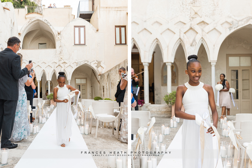 Wedding ceremony at Hotel Convento