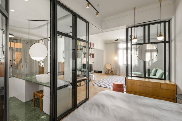 Дизайн-проекты. Квартира с прозрачными стенами в Салониках