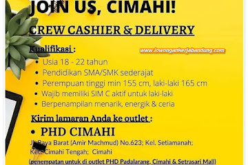 Lowongan Kerja Crew Cashier & Delivery PHD