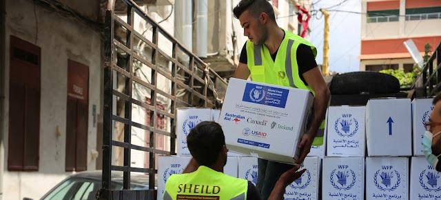 PMA/Ziad Rizkallah Llegada de asistencia alimentaria del PMA a Líbano.