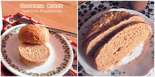 Oatmeal Rolls Recipe @ treatntrick.blogspot.com