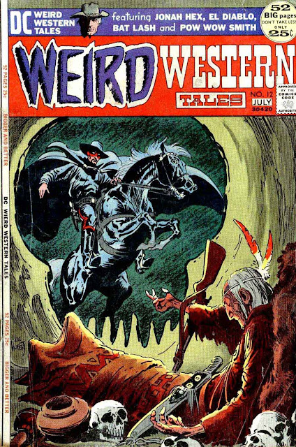 Weird Western Tales v1 #12 , 1972 dc bronze age comic book cover by Joe Kubert