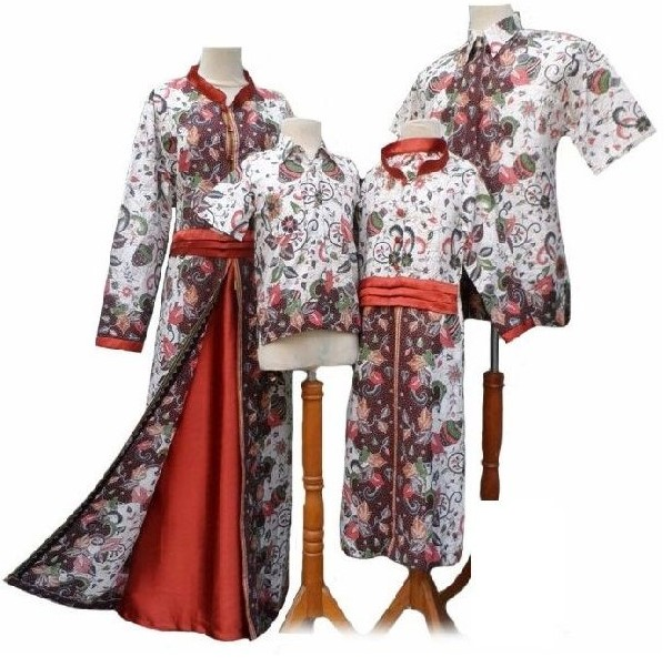 10 model baju batik couple keluarga trend terbaru 2017 Baju gamis couple ibu ayah anak