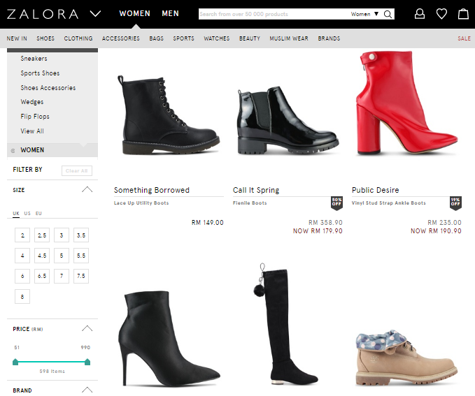 Discover Sexy, Chic And Stylish Women Boots At Zalora