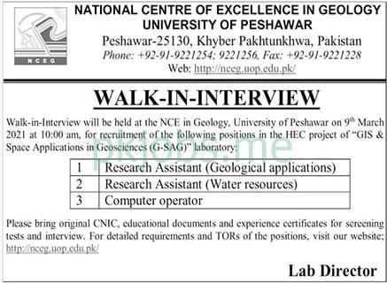 Latest University of Peshawar Management Posts 2021