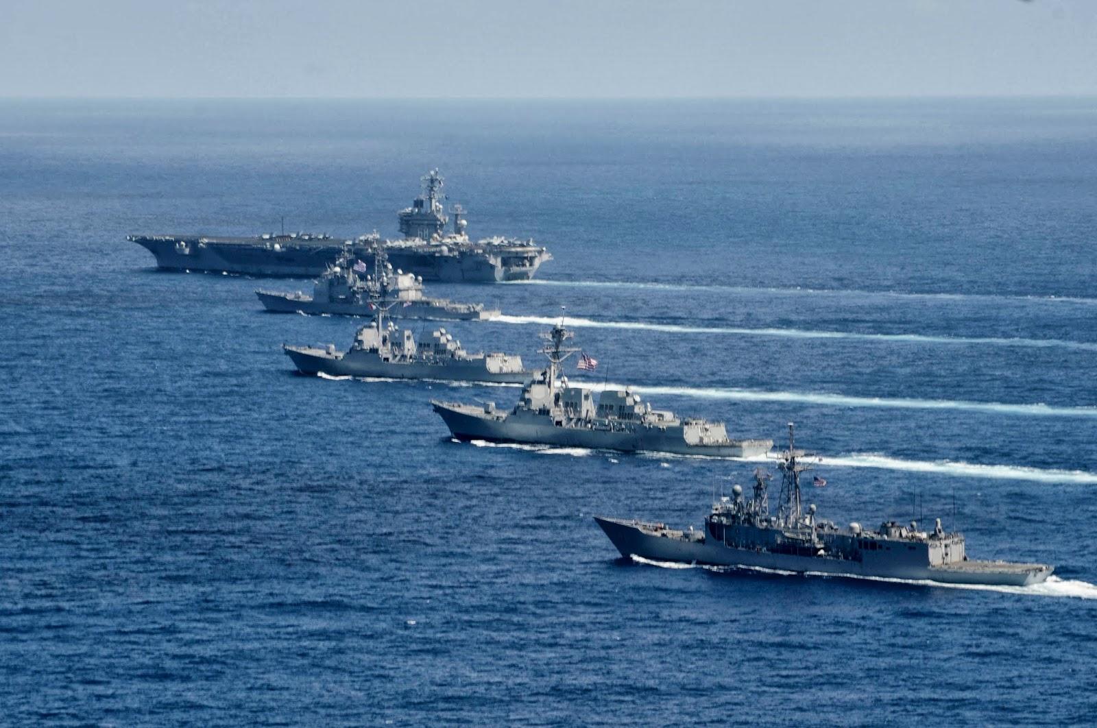 Accompanying+battle+group+of+the+nuclear+aircraft+carrier++USS+Nimitz+CVN-68.jpg