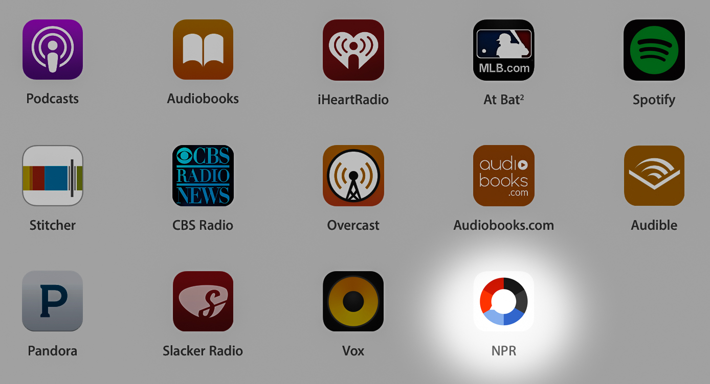 appradioworld apple carplay android auto car technology news npr one is the latest apple. Black Bedroom Furniture Sets. Home Design Ideas