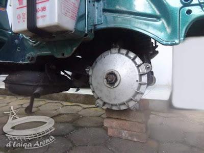 lepas roda belakang dari tempatnya