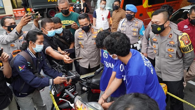 Polres Tasikmalaya Kota Polda  Jabar  Tangkap Komplotan Curanmor Yang Beraksi 21 Kali