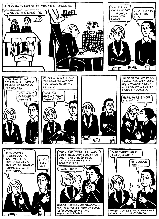 Read Chapter 6 - The Horse, page 50, from Marjane Satrapi's Persepolis 2 - The Story of a Return
