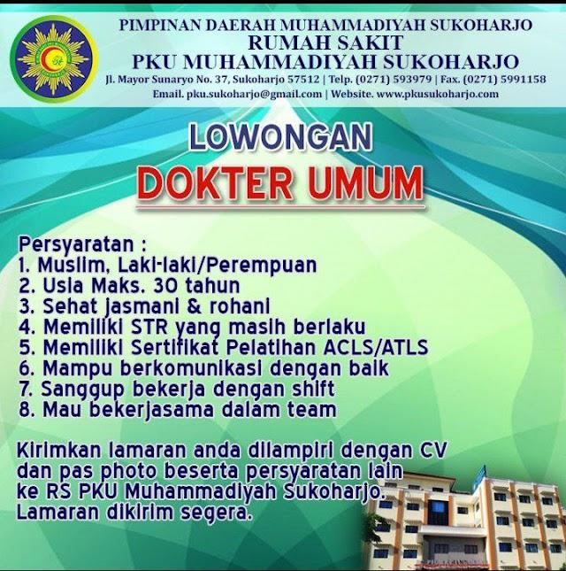 Loker Dokter PKU Muhammadiyah Sukoharjo