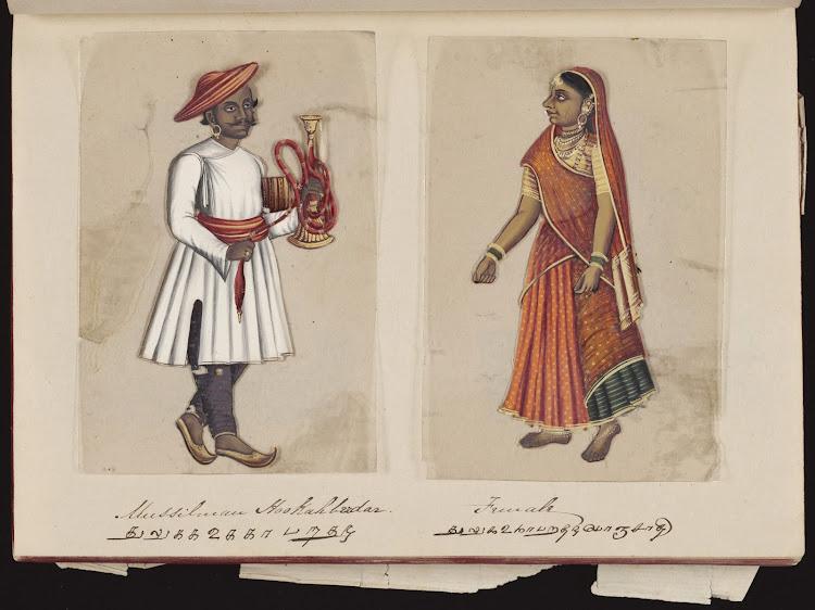 Muslim hookahberdar and Female
