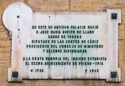 placa, Queipo de Llano, palacio, Conde de Toreno, Oviedo