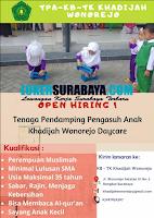 Open Hiring di KB-TK Khadijah Wonorejo Daycare Surabaya Terbaru Nopember 2019