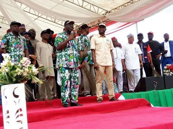 Buhari and APC governors storm Obaseki grand rally in Edo
