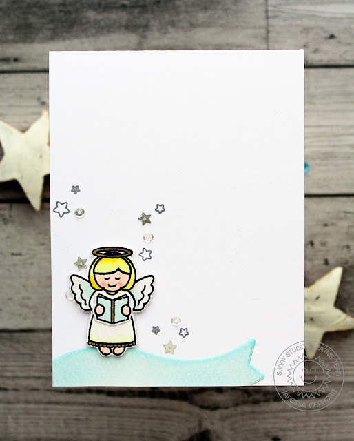 Sunny Studio Stamps: Little Angels Christmas Card by Vanessa Menhorn.