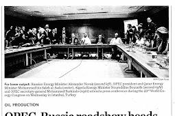 Die Roadshow zwischen der OPEC und Russland reist zu Ölkürzungsgesprächen nach Wien