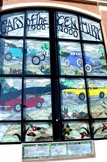 Cars of the Century Stained Glass Mural Naperville