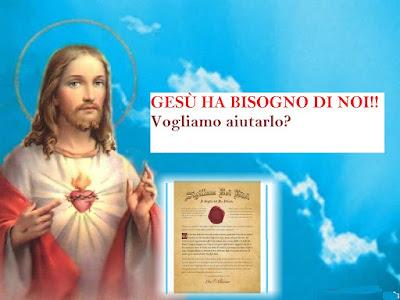 Gesù ha bisogno di noi!! Vogliamo aiutarlo?